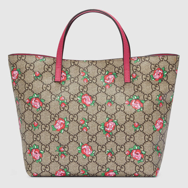 Gucci Children's GG Rose Bud Tote - Pink