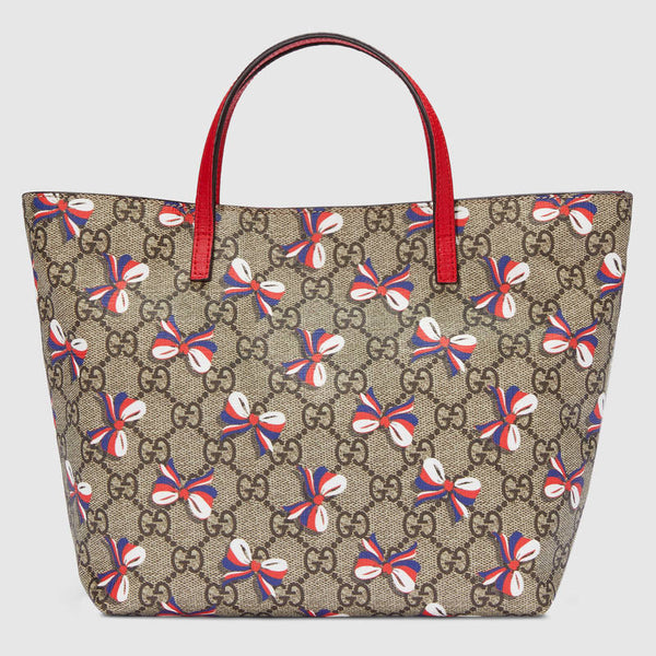 Gucci Children's GG Slyvie Bow Tote - Red - Roundeworld