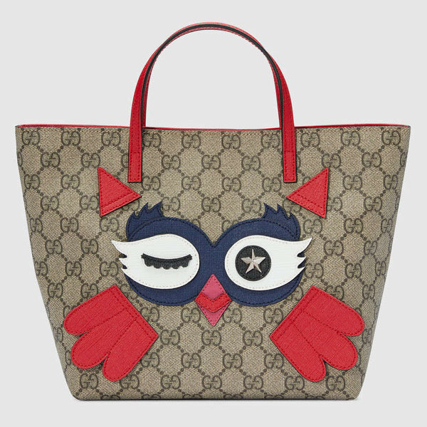 Gucci Children's Owl Tote - Red