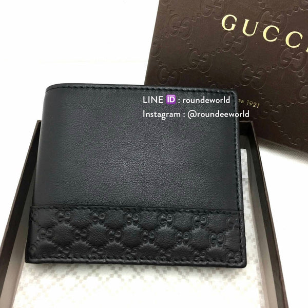 Gucci Leather Men Wallet with Microguccissima