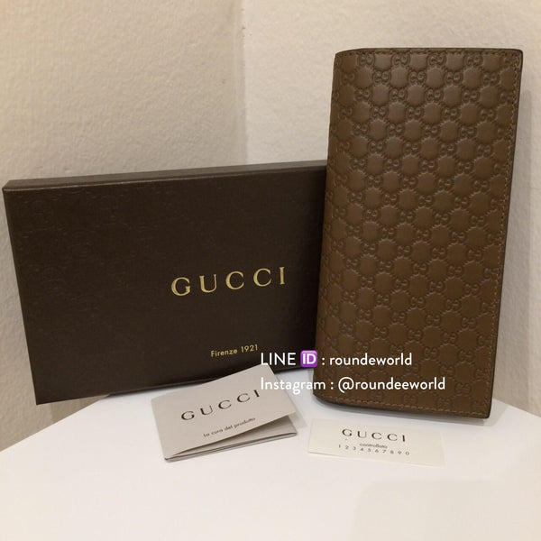 Gucci Men's Microguccissima Long Wallet - Brown - Roundeworld