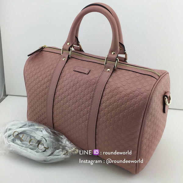 3df13a839ac9 Gucci Microguccissima Leather Boston Bag - Pink - Roundeworld