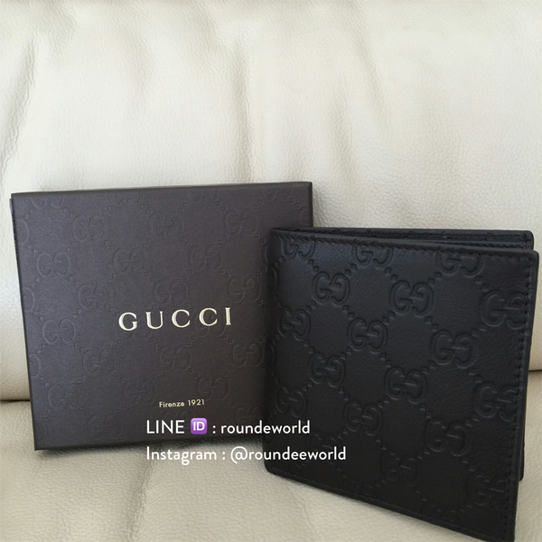 Gucci Men's Guccissima Bi-Fold Wallet 150413 - Dark Brown - Roundeworld
