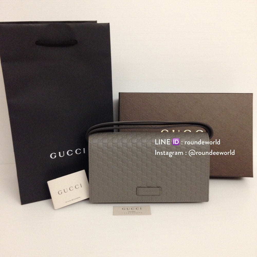 623f47578097 Gucci Microguccissima Wallet on Chain - Grey - Roundeworld ...