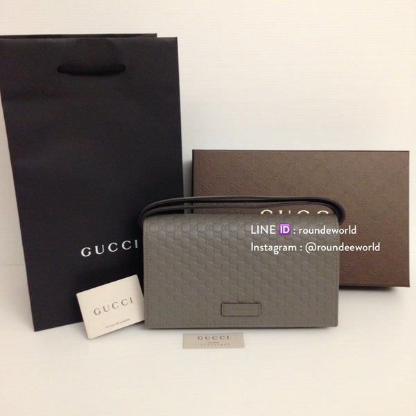 Gucci Microguccissima Wallet on Chain - Grey - Roundeworld