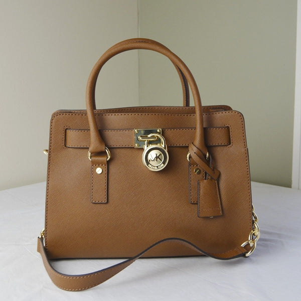 Michael Kors Hamilton Saffiano Leather Medium Satchel - Luggage