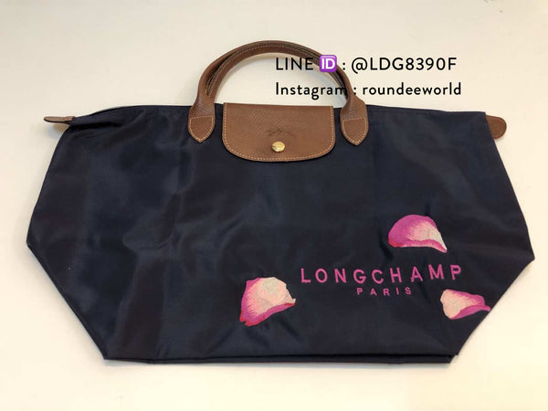 Limited Edition Longchamp Le Pliage Sakura Medium Short Handle