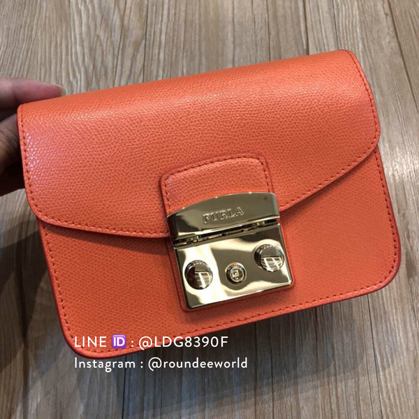 Furla Metropolis Mini Crossbody - Orange - Roundeworld