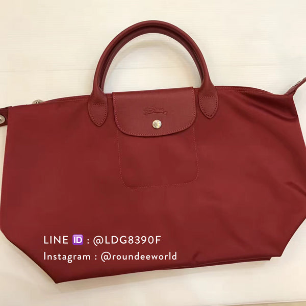 Longchamp Le Pliage Néo Medium Top Handle - Red