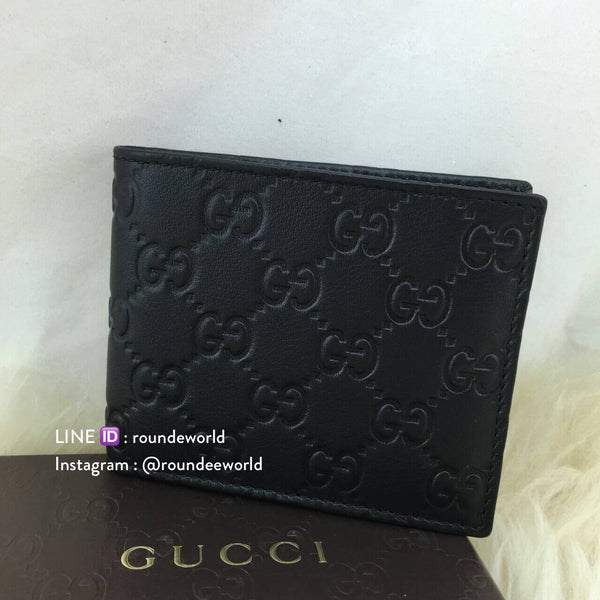 *RESTOCKED!* Gucci Men's Guccissima Bi-Fold Wallet - Black