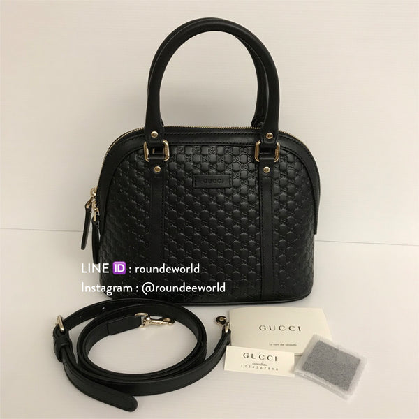 Gucci Microguccissima Mini Dome Bag - Black - Roundeworld