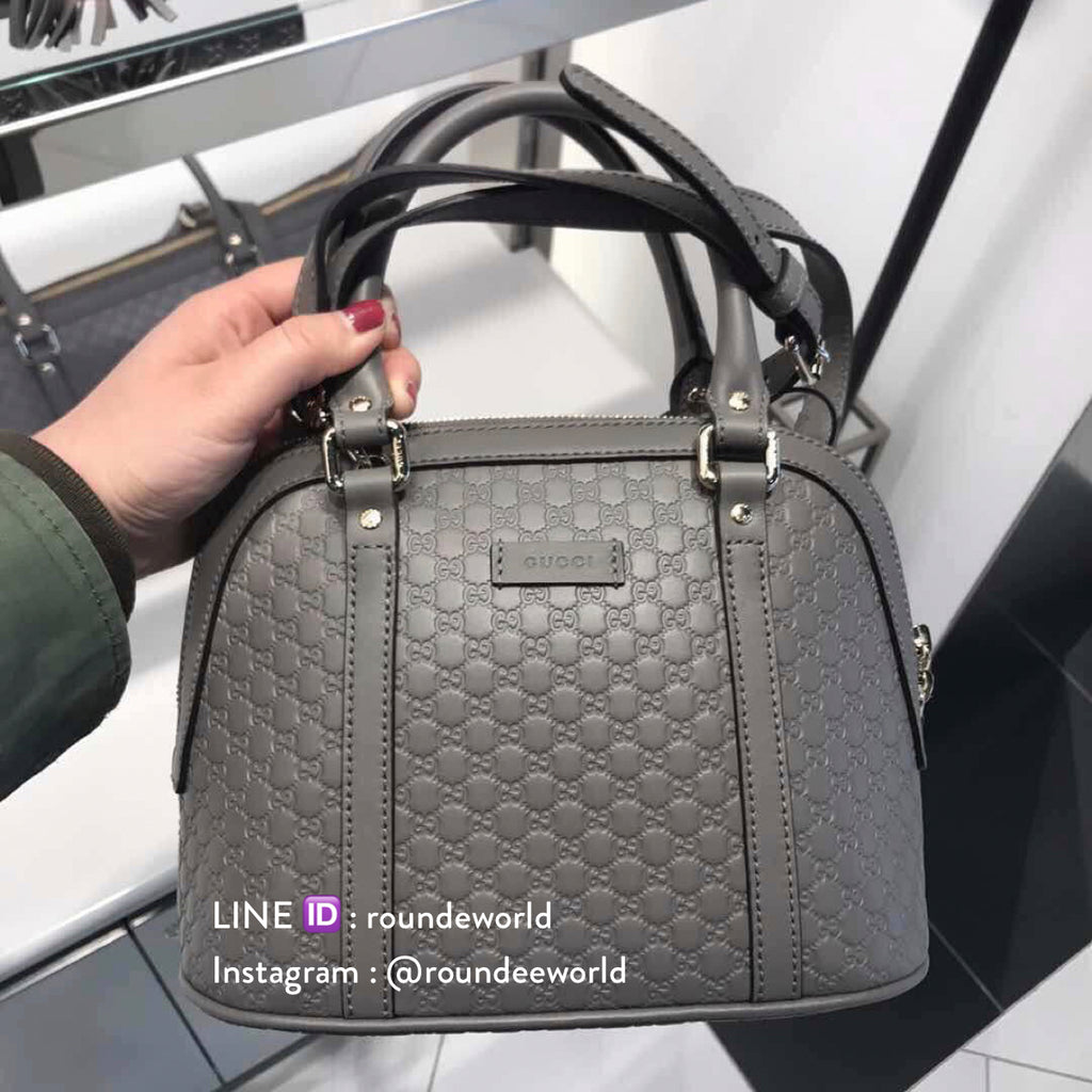 a89a3cf9af85 Gucci Microguccissima Mini Dome Bag - Grey - Roundeworld