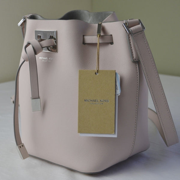 Michael Kors Miranda Small Leather Messenger - Cameo Pink