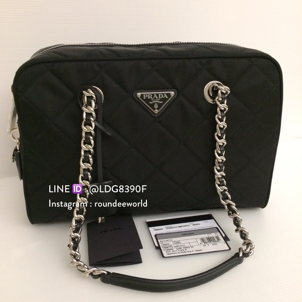 Prada Tessuto Impuntu Quilted Bag 1BB903 - Black