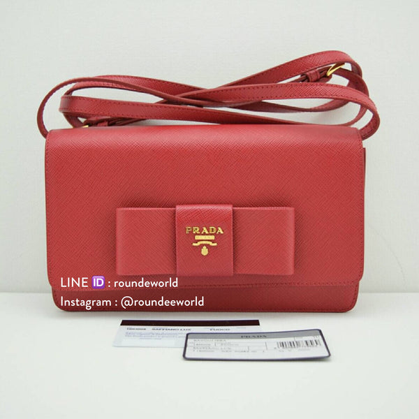 Prada Saffiano Lux Shoulder Bag 1BH009 - Fuoco
