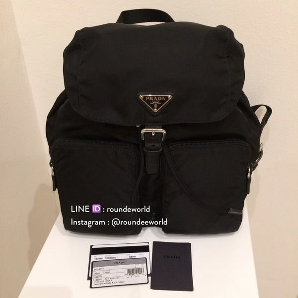 Prada Tessuto Nylon Backpack 1BZ005 - Black