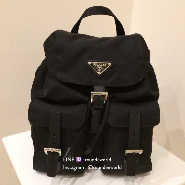 Prada Fabric Backpack 1BZ811 - Black