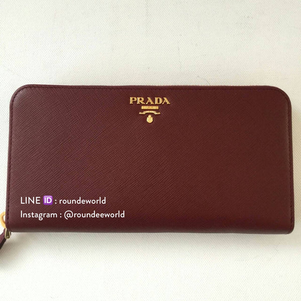 Prada Saffiano Leather Wallet 1ML506 - Amaranto