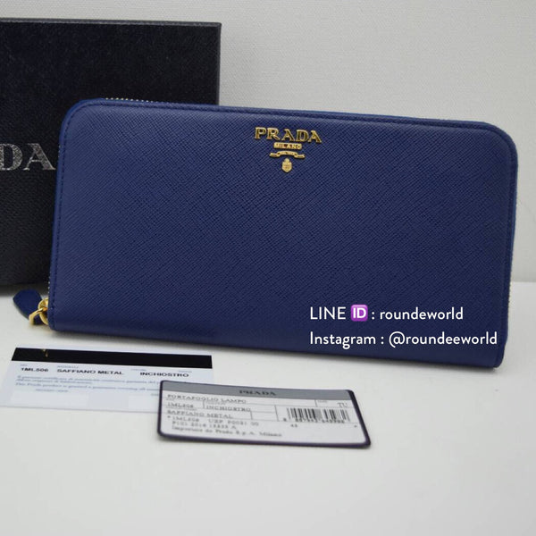 Prada Saffiano Leather Wallet 1ML506 - Inchiostro