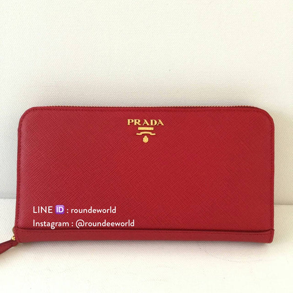 Prada Saffiano Leather Wallet 1ML506 - Rosso