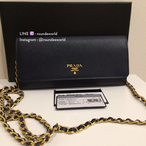 Prada Saffiano Wallet On Chain 1M1290 - Baltico