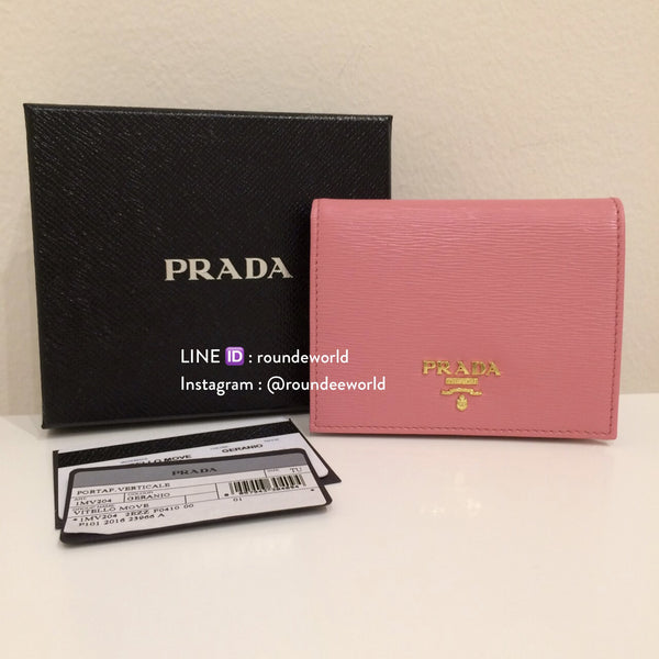 Prada Vitello Move Leather Flap Wallet 1MV204 - Geranio