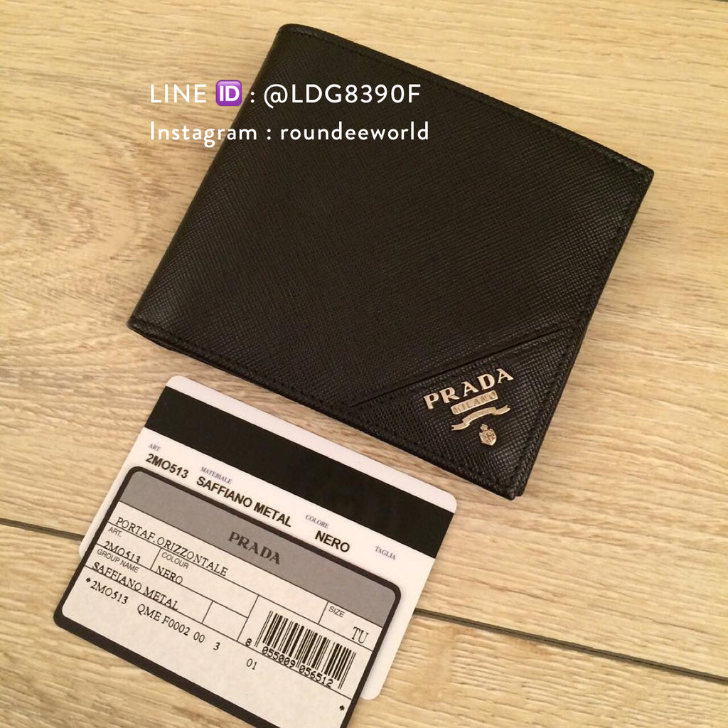 c7bbd972d61090 ... norway prada saffiano leather bi fold wallet 2mo513 black e4f35 dba31