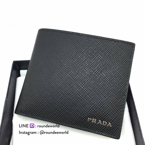 Prada Saffiano Leather Wallet 2MO513 - Black