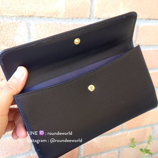Prada Vitello Move Leather Continental Wallet 1MH133 - Black