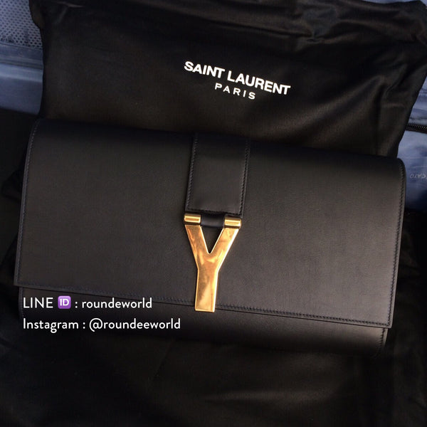 Saint Laurent Classic Y Clutch - Black