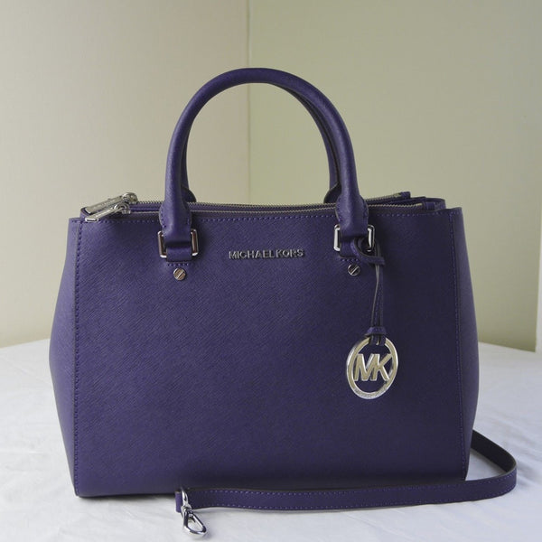 Michael Kors Sutton Medium Saffiano Leather Satchel - Iris