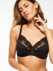 Chantelle Pont Neuf, 3-Part Underwire Bra - 1381 in black