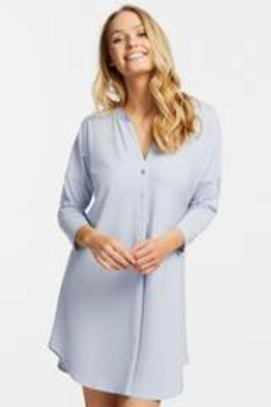 Fleurt Dolman Night Shirt blue