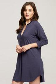 Fleurt Dolman Night Shirt Indigo