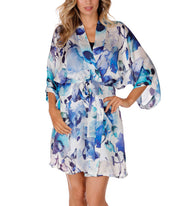 Christine Silk Short Robe Adrift