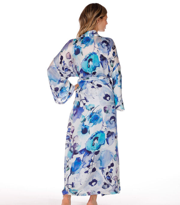 Christine Silk Long Robe Adrift