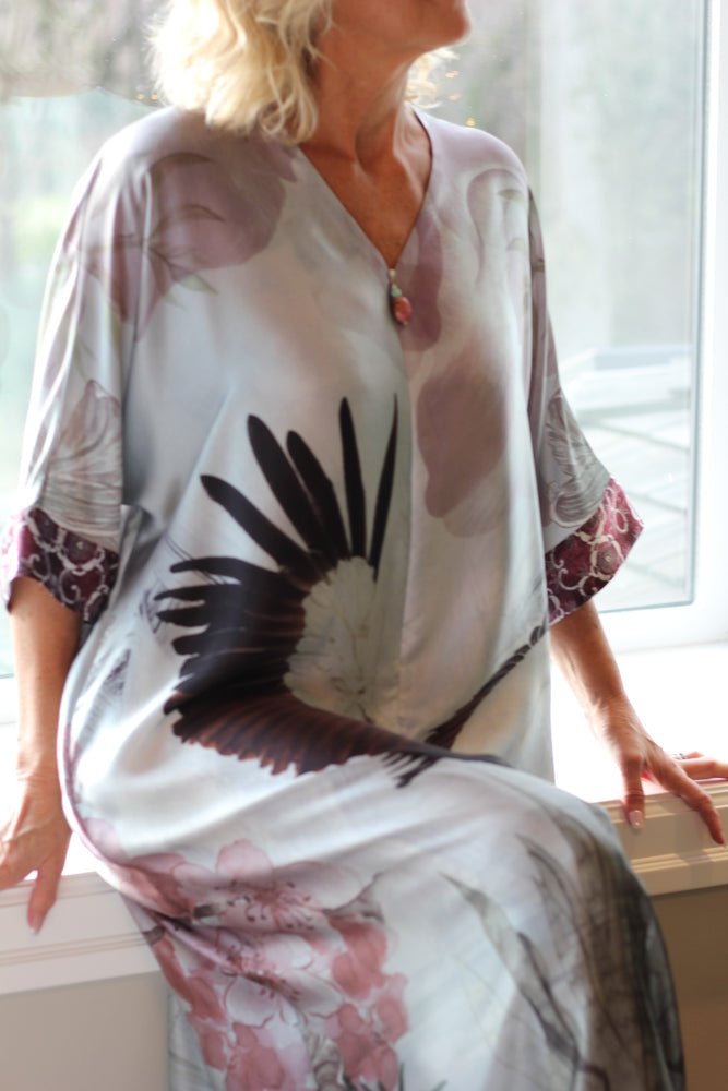 Christine Silk Kaftan Solitude