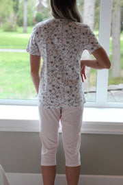 Linclalor Rose Print PJ Capri Set