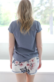 Gingerlilly PJ Short Set - Grey & White