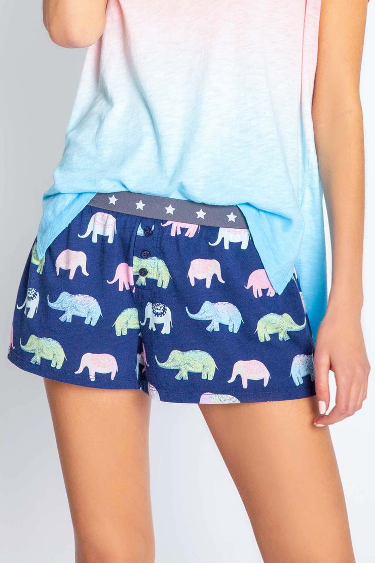 PJSalvage Elephant print short set