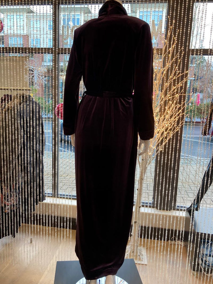 Diamond Tea Velvet Robe  back view