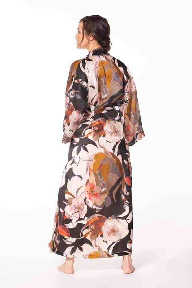 back view of Christine Silk Sedona Long Robe