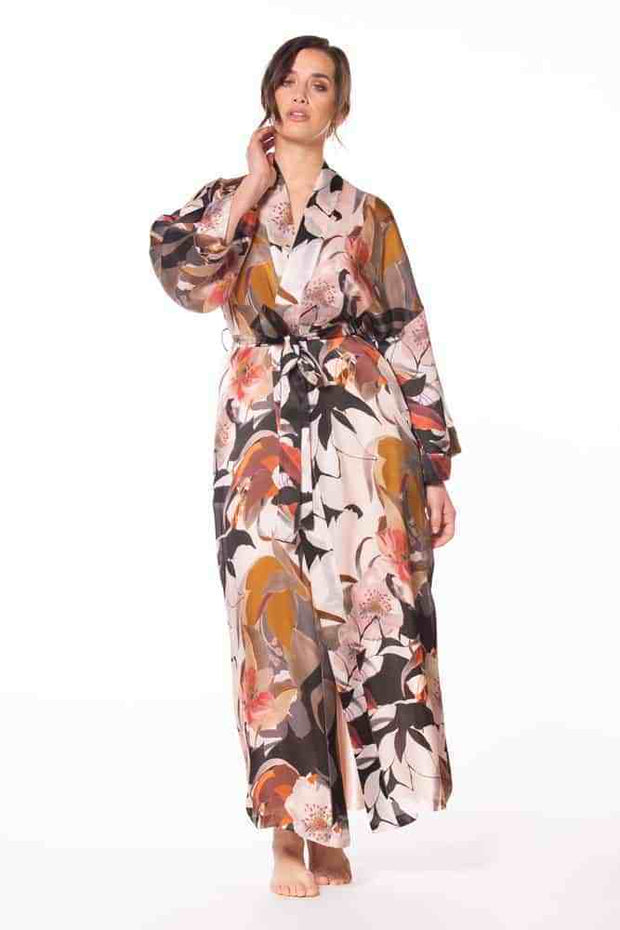 Christine Silk Sedona Long Robe - SED8700