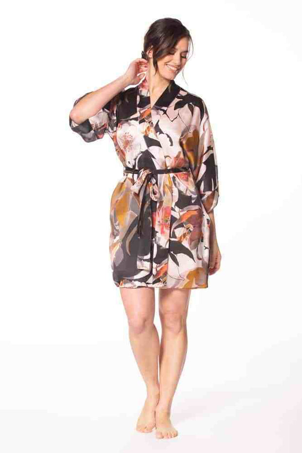 Christine Silk Sedona Short Robe - SED400