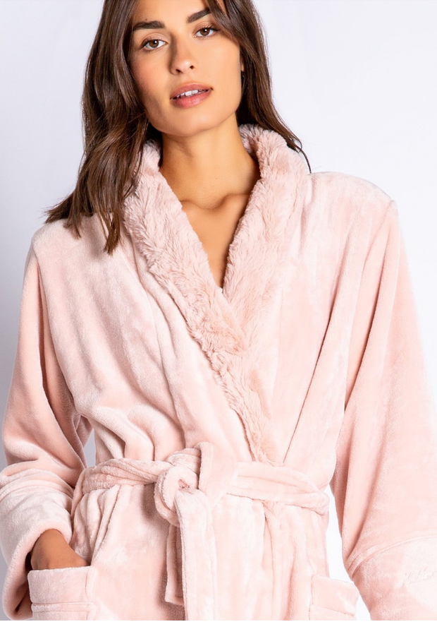 PJ Salvage Luxe Plush Robe close up view