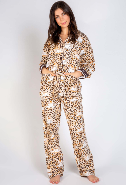 PJ Salvage Flannel Coffee Bean PJ Set - RUFLPJ