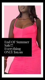 Load image into Gallery viewer, Neon Pink Mini Dress