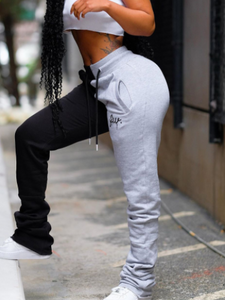 Contrast Stacked Joggers