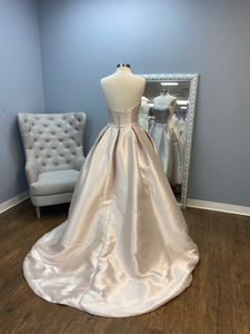 "Rebecca Ingram ""Erica"" Tea-Length Ball Gown with Train"