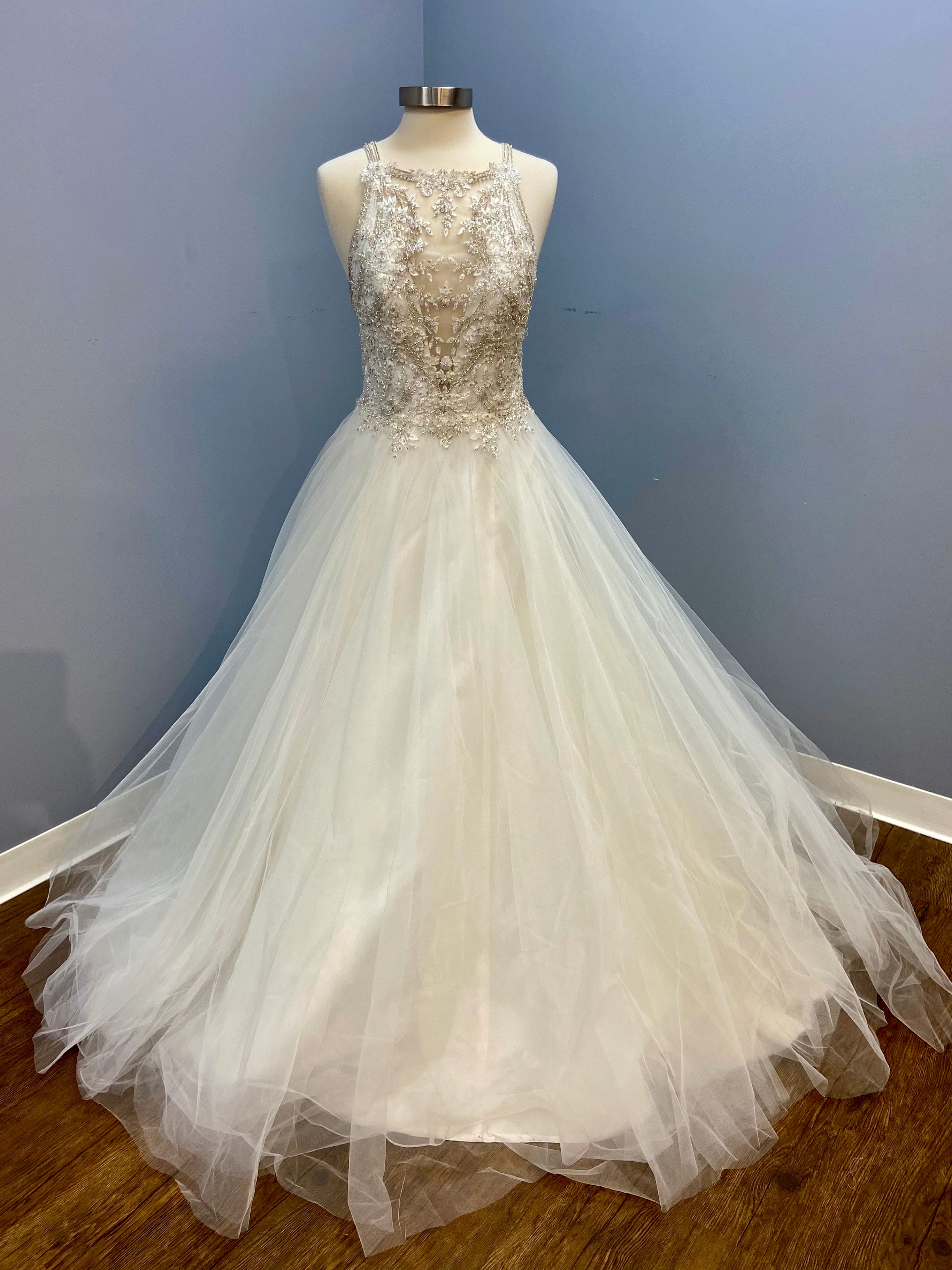 "Maggie Sottero ""Eden"" Beaded Lace Tulle Ball Gown"